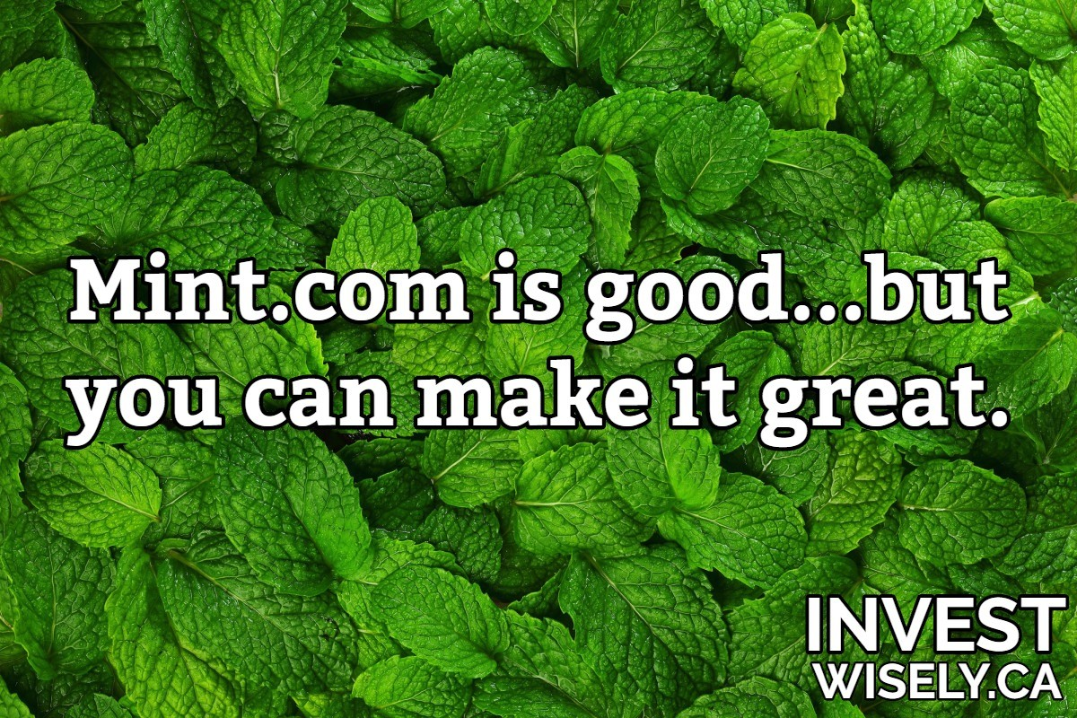 Mint.com is good…but you can make it great