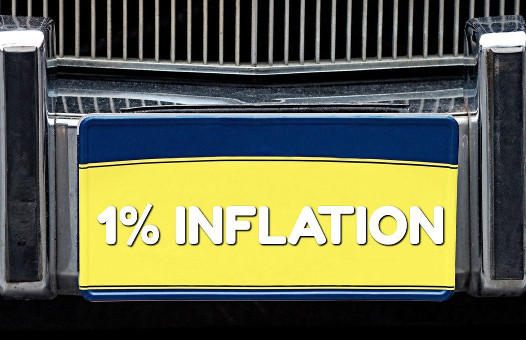 Inflation 1 percent