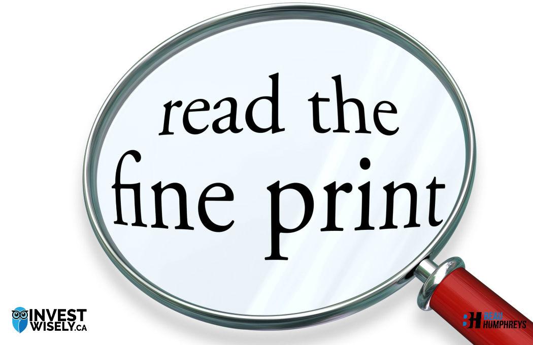 RBC Free iPad - Fine Print