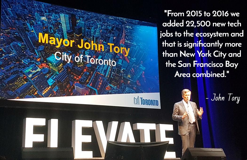 Elevate Toronto Festival John Tory